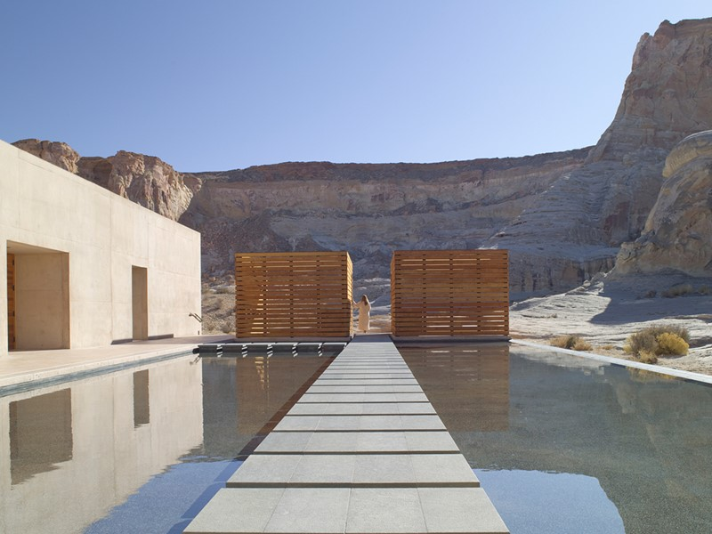 La piscine du spa de l'Amangiri