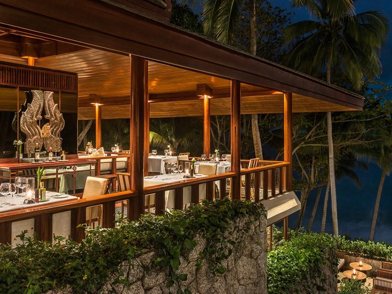 Le restaurant Arva de l'hôtel Amanpuri en Thailande