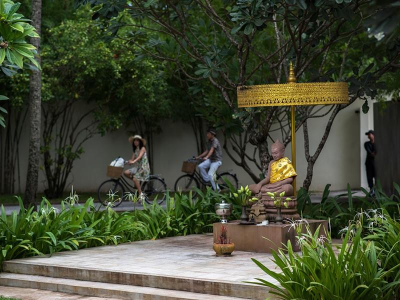Balade à vélo à l'hôtel Amansara à Siem Reap