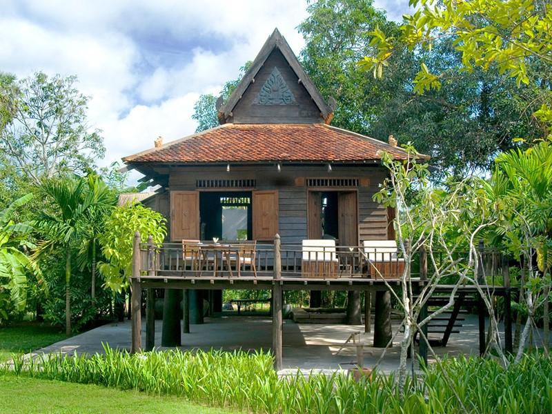 La maison Khmer de l'hôtel Amansara à Siem Reap