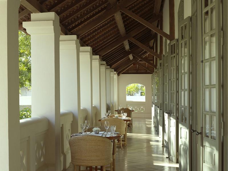 Restaurant Veranda de l'hôtel Amantaka situé au Laos