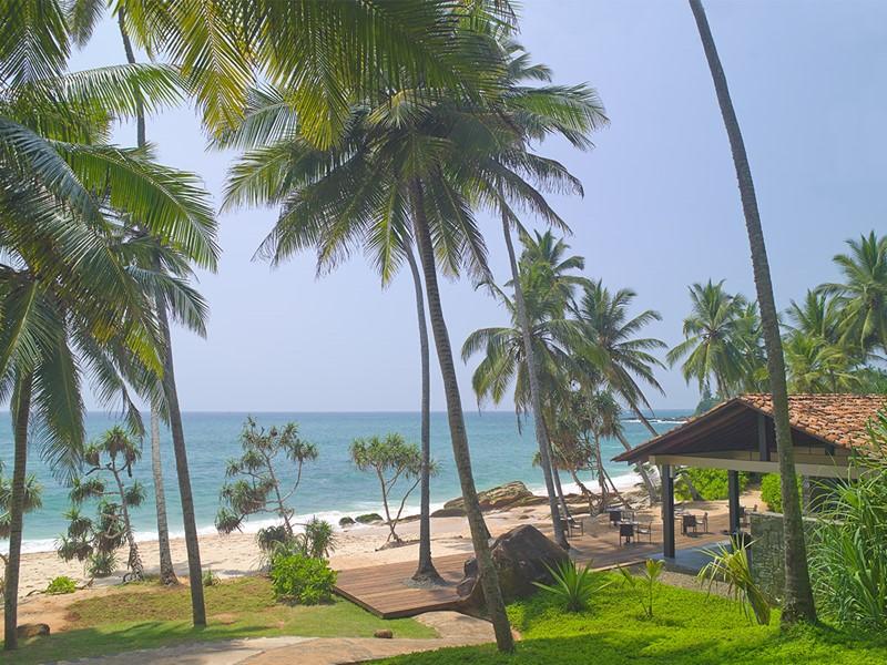 Le Beach Club de l'Amanwella au Sri Lanka