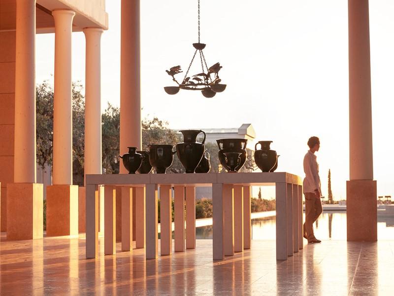 L'architecture de l'Amanzoé s'inspire des anciennes acropoles