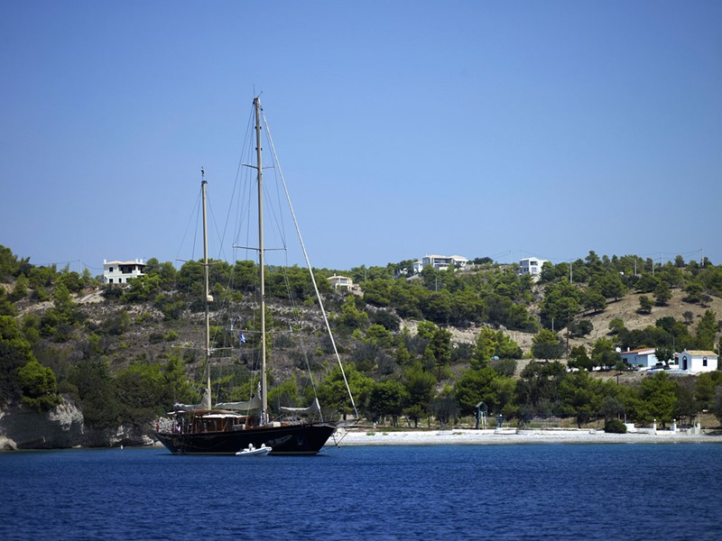 La péninsule du Péloponnèse est idéale pour les excursions à bord du bateau de l'Amanzoe