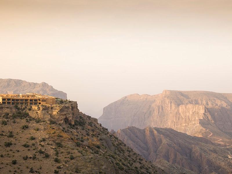 Vue de l'Anantara Al Jabal Al Akhdar situé dans la région du Djebel Akhdar