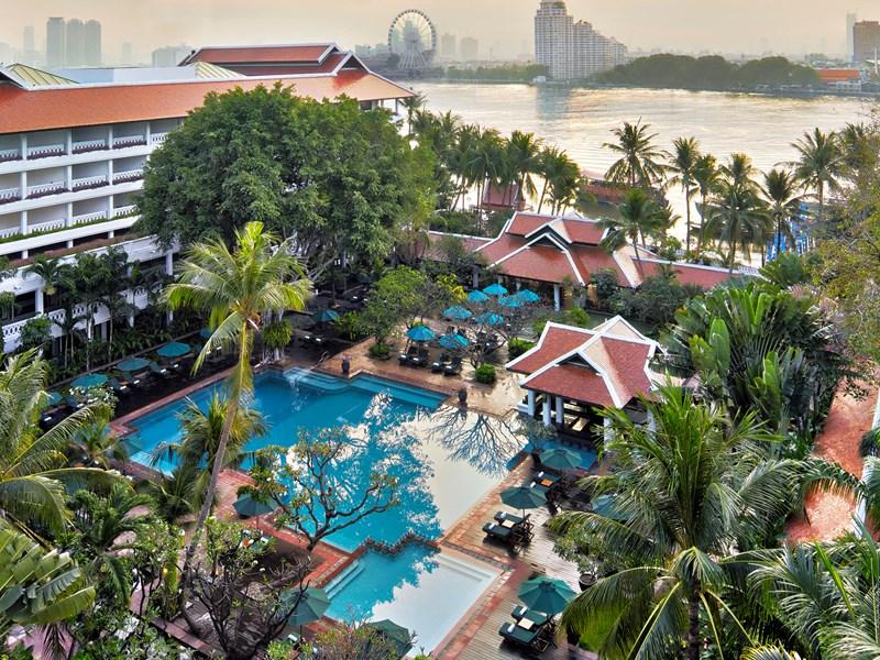 L'hôtel bordant le Chao Phraya