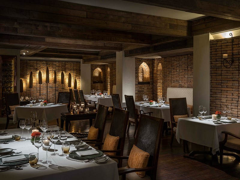 Spécialités italiennes au restaurant Baan Dhalia de l'Anantara