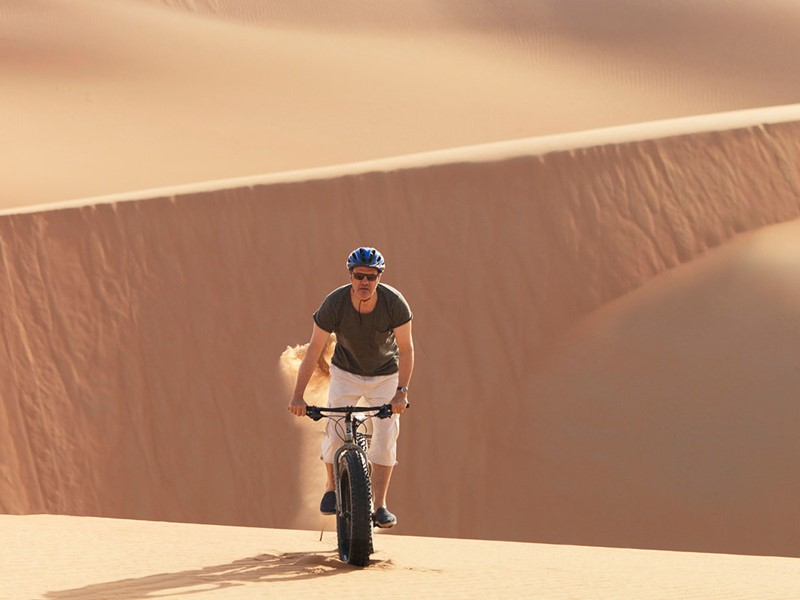 Balade à vélo à l'Anantara Qasr Al Sarab à Abu Dhabi