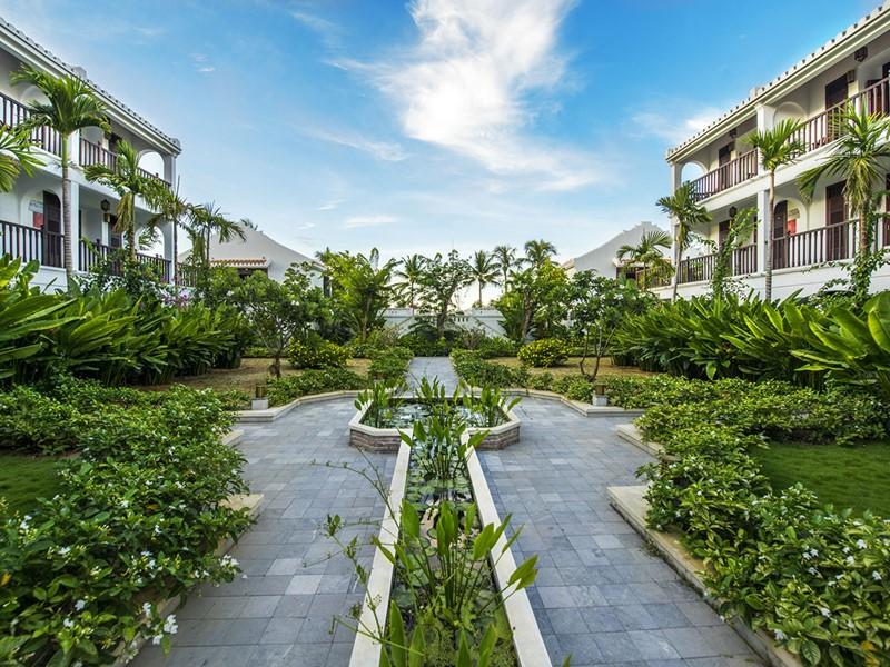 Le magnifique jardin exotique de l'Hoi An Ancient House Village