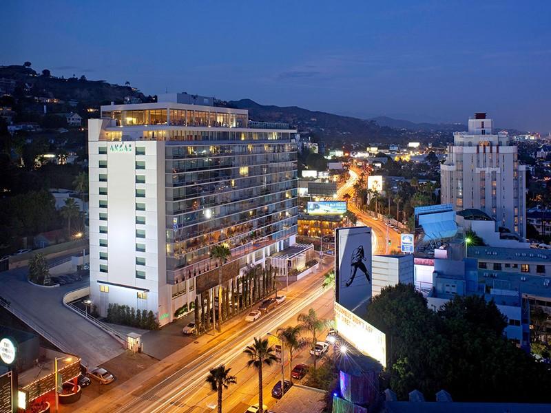 Vue de l'Andaz West Hollywood, situé à proximité du célèbre Sunset Boulevard