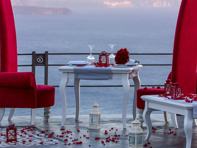 Dîner romantique à l'Andronis Boutique Hotel