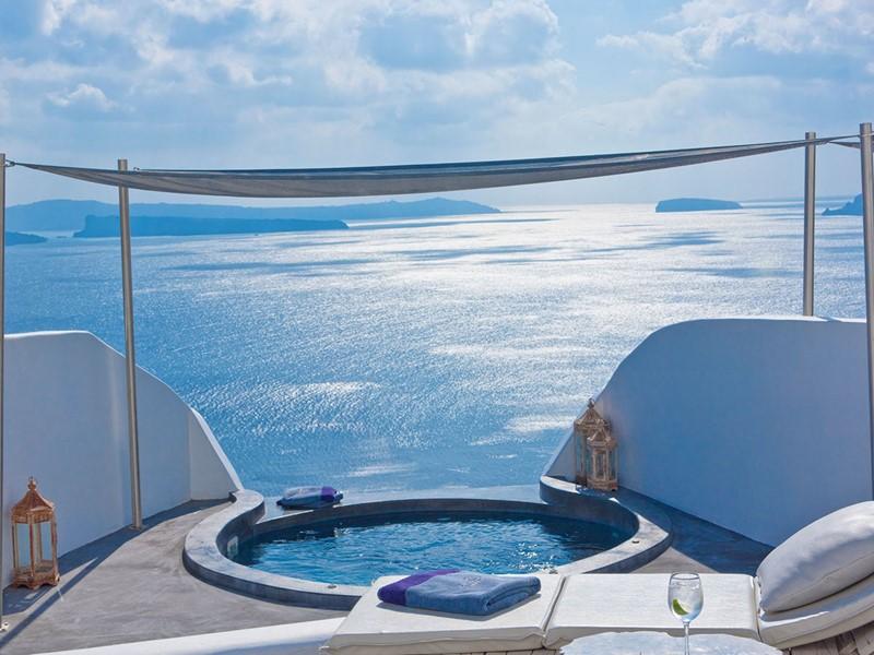 Suite Exceptional de l'Andronis Luxury Suites en Grèce