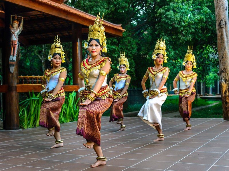 Danse traditionelle Apsara de l'Angkor Village Resort