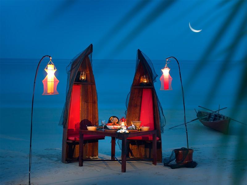 Dîner romantique de l'Angsana Resort à Bintan