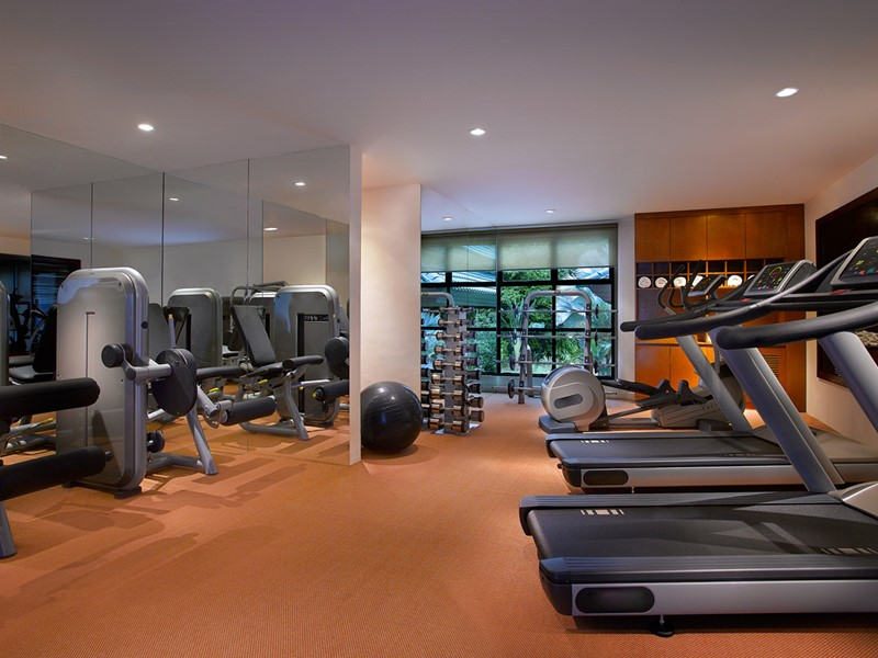 La gym de l'Angsana Resort & Spa à Bintan