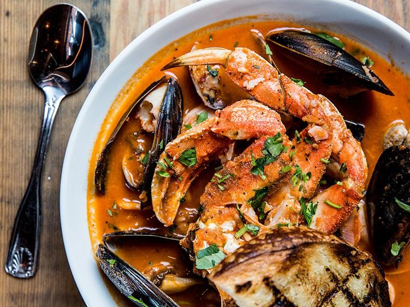 Le restaurant de l'hôtel Argonaut des le paradis des fruits de mer