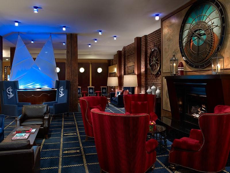 Le lobby de l'hôtel Argonaut