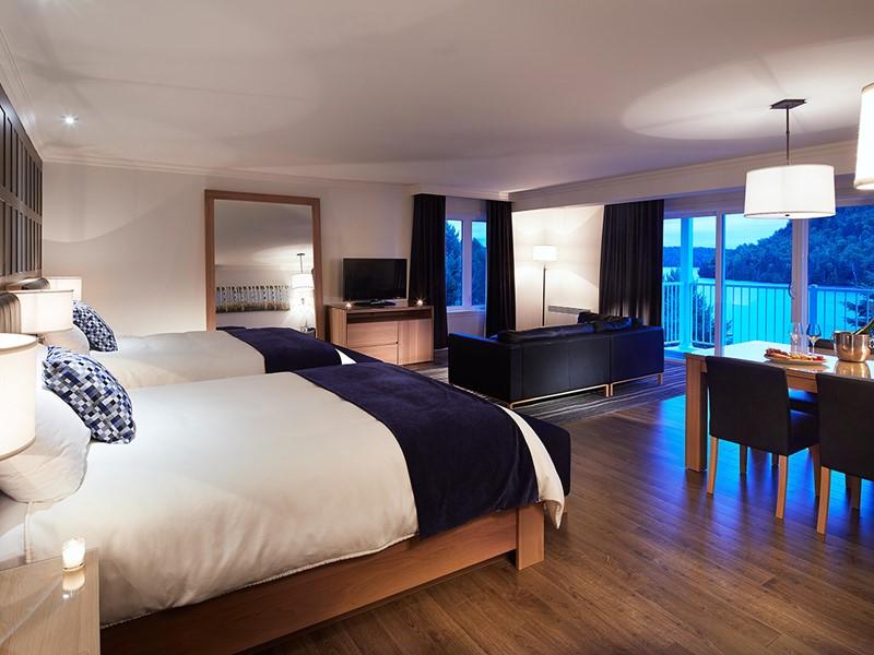 Deluxe Room de l'Auberge du Lac-à-l'Eau-Claire