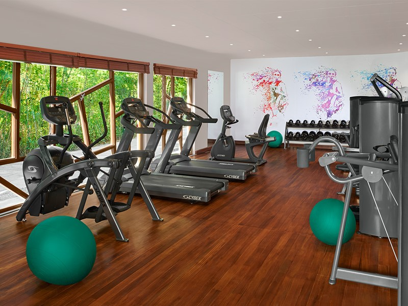 La gym de l'Avani Seychelles Barbarons Resort