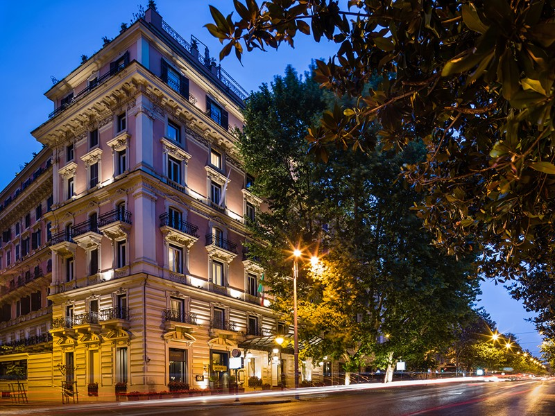 Vue du Baglioni Hotel Regina, véritable institution à Rome
