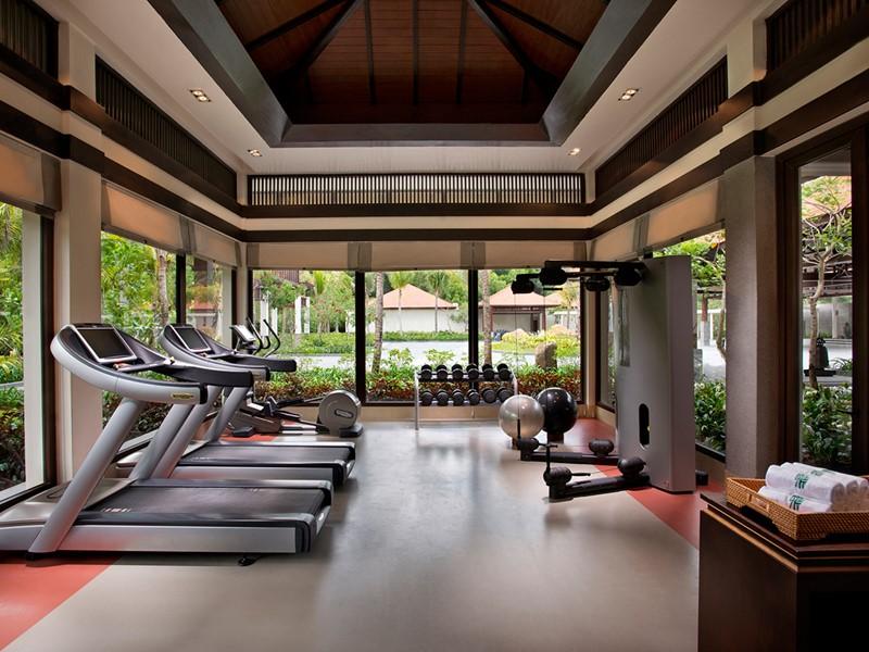 La gym de l'hôtel Banyan Tree Lang Co au Vietnam