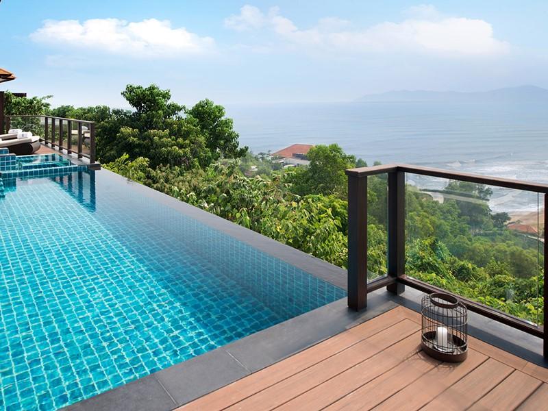 Panoramas exceptionnels depuis les villas du Banyan Tree