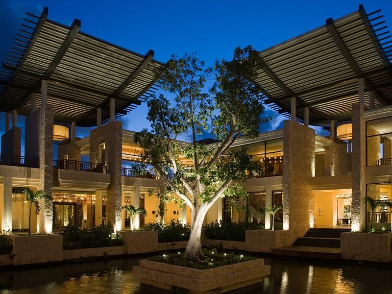 Le lobby du Banyan Tree Mayakoba au Mexique