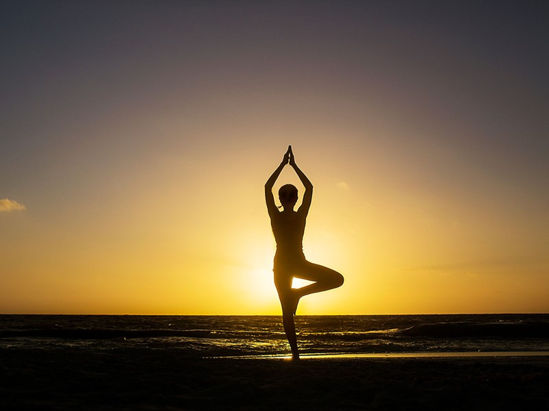 Yoga à l'hôtel Banyan Tree Mayakoba au Mexique