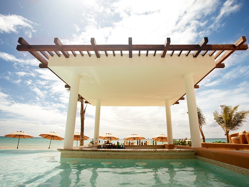 Piscine du Banyan Tree Mayakoba au Mexique