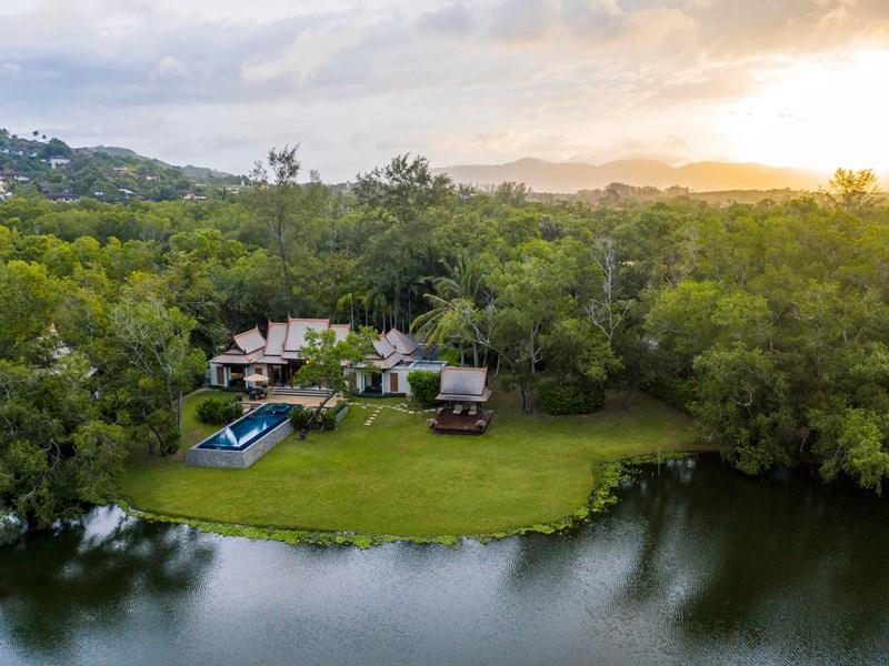 Vue de la Double Pool Villa