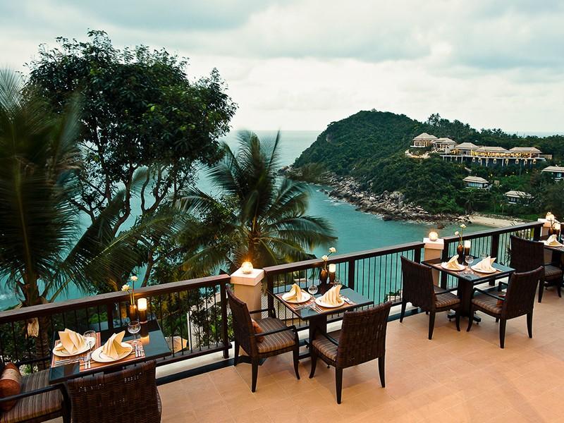 Autre vue du restaurant Saffron de l'hôtel Banyan Tree Samui