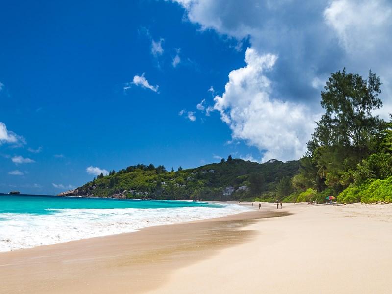 Vue splendide de la plage