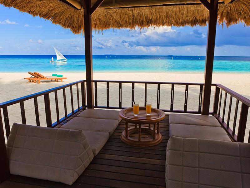 Espace de détente de la Beachfront Villa