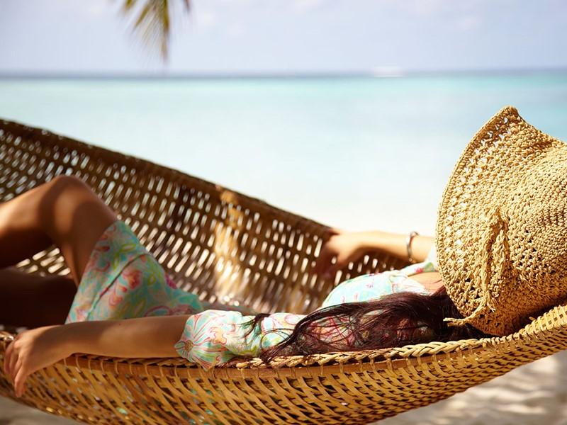 Un moment de détente sous le soleil des Maldives