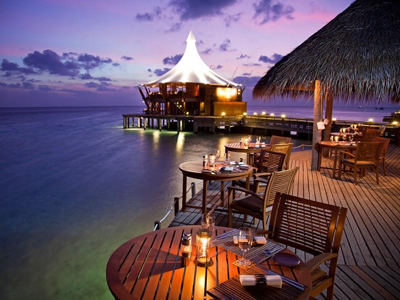Le restaurant Cayenne Grill du Baros aux Maldives