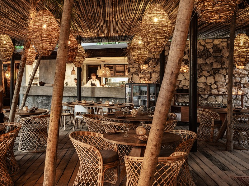 Saveurs internationales au restaurant Ocumare du Be Tulum
