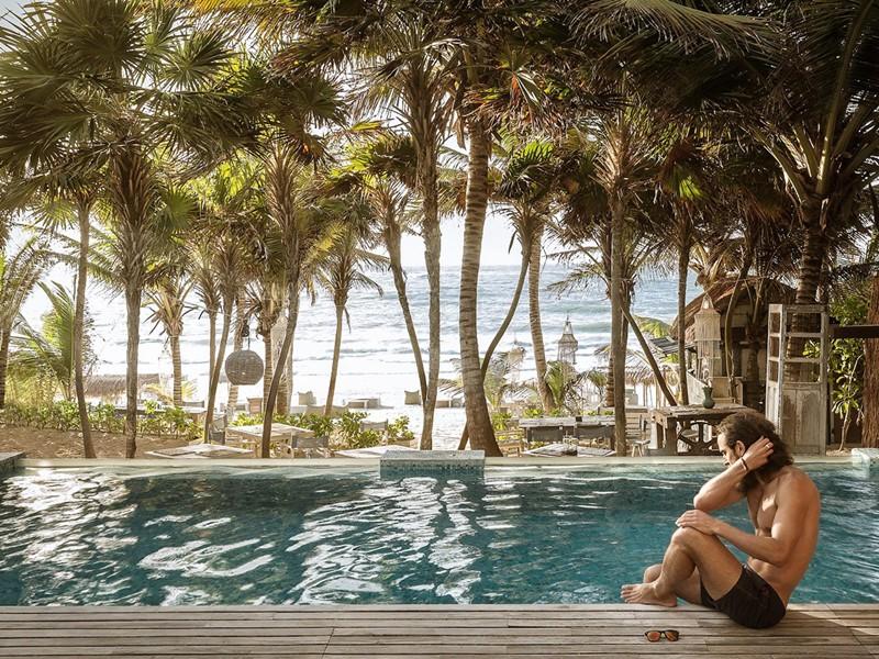 Profitez de la belle piscine du Be Tulum Hotel au Mexique