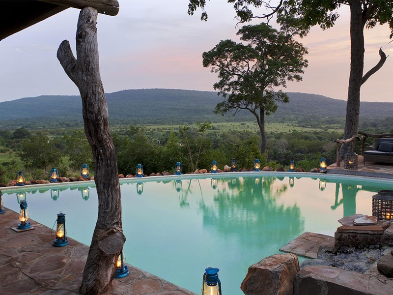 La piscine du camp