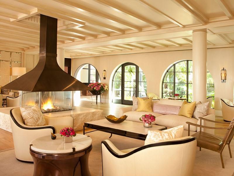 Le lobby de l'hôtel Bel-Air situé aux Etats Unis