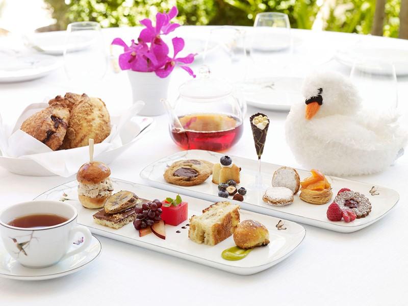 Petits délices à l'heure du thé au Bel-Air Hotel