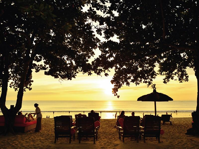 Coucher de soleil de l'hôtel Belmond Jimbaran