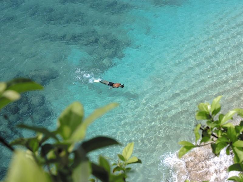 Snorkeling au Belmond La Samanna situé à Saint-Martin