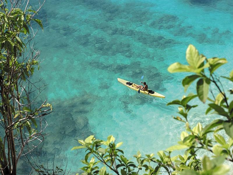 Kayak à l'hôtel Belmond La Samanna aux Antilles