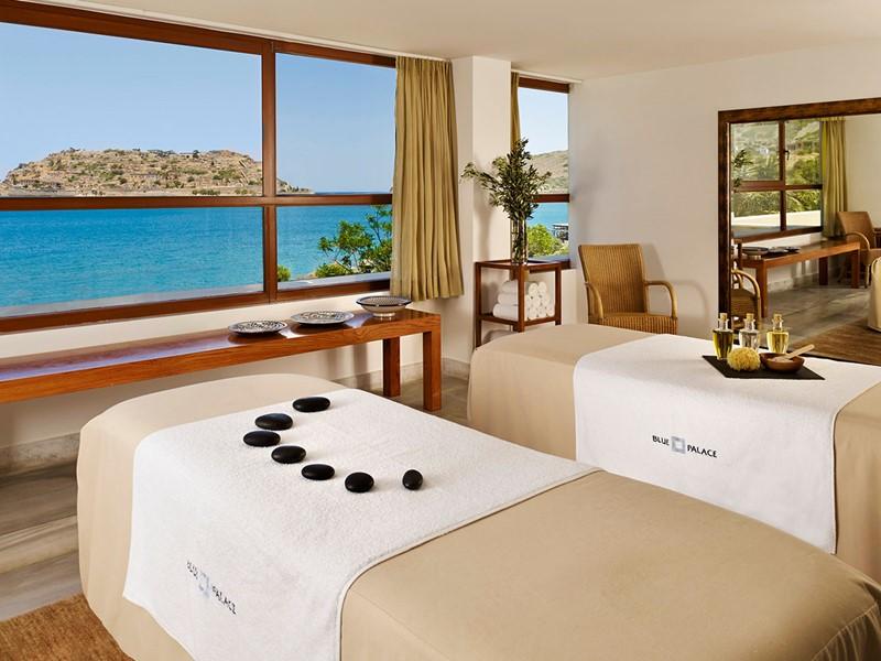 Le spa de l'hôtel 5 étoiles Blue Palace en Grèce