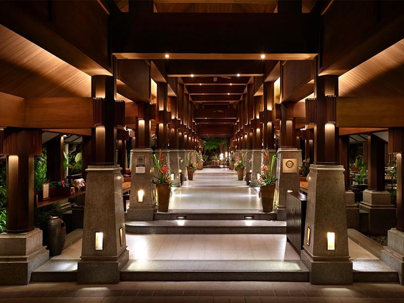 Le lobby du Bo Phut Resort situé en Thailande