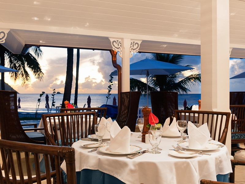Le restaurant Cariblue de l'hôtel The BodyHoliday