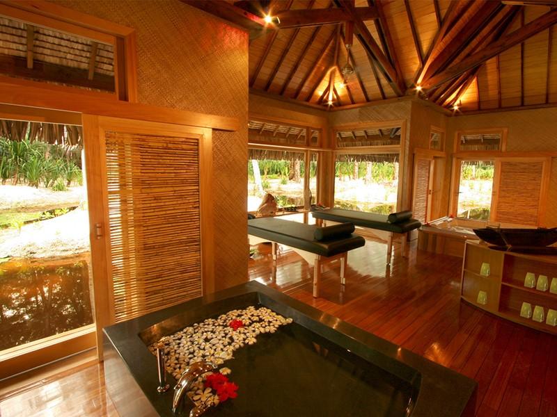 Le spa de l'hôtel Bora Bora Pearl Beach en Polynésie