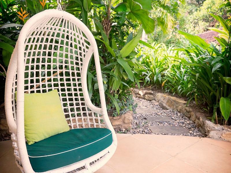 Espace de détente du Bougainvillea Retreat au Sri Lanka