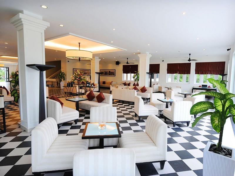 Le lounge de l'hôtel Boutique Hoi An Resort au Vietnam