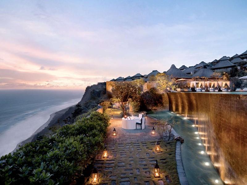 Repas romantique au Bulgari Resort, à Bali